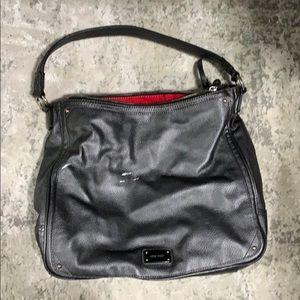 Nine West silver leather hobo bag